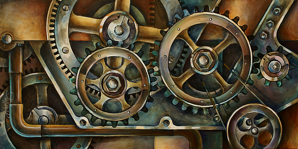 Mechanical Painting - Harmony 2 by Michael Lang
