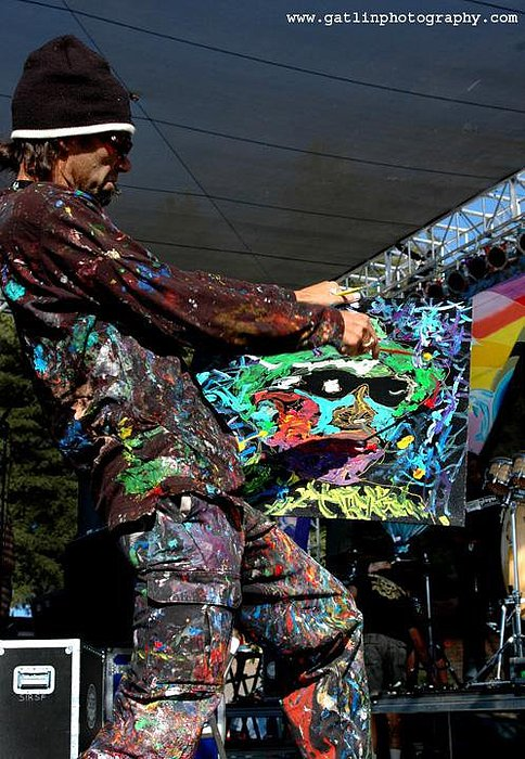 Performance Painter Photograph - Harmony Festival 2007 by Neal Barbosa
