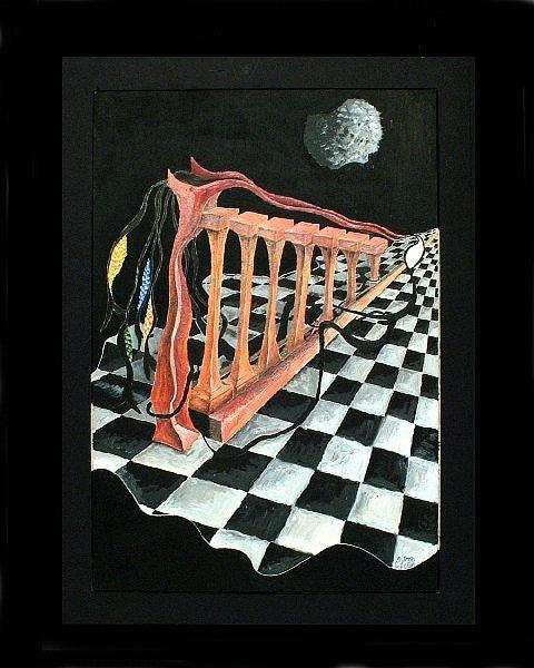 Harp Painting - Harp And Carp by Cheryl Loom