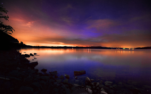 Night Photograph - Harrison Bay At Night by Steven Llorca