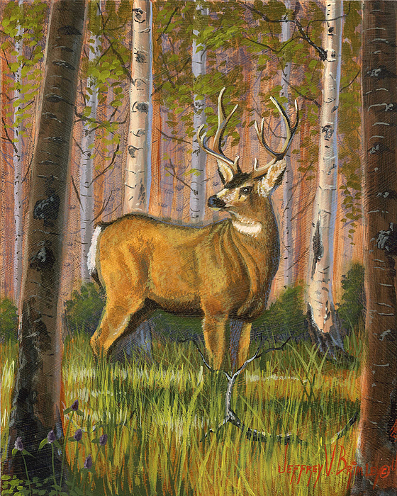 Landscape Painting - Hart Of The Forest by Jeff Brimley