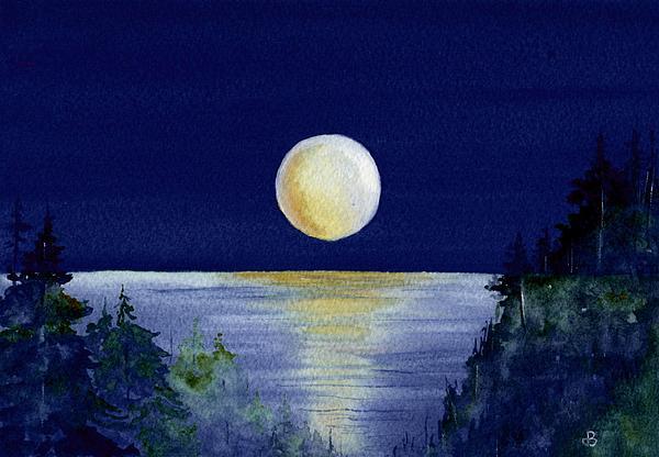 Harvest Moon Painting By Brenda Owen