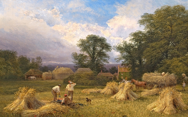 Harvest Time Painting - Harvest Time by GV Cole