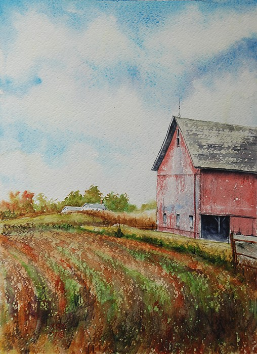 Landscape Painting - Harvest Time by Mike Yazel
