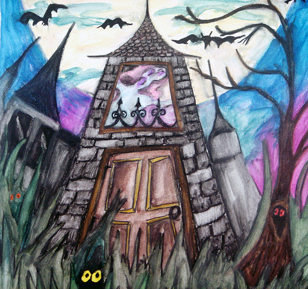 Haunted House Painting - Haunted House by Jenni Walford