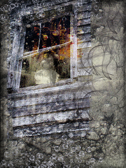 Haunted Digital Art - Haunted Impressions by Nadine Berg