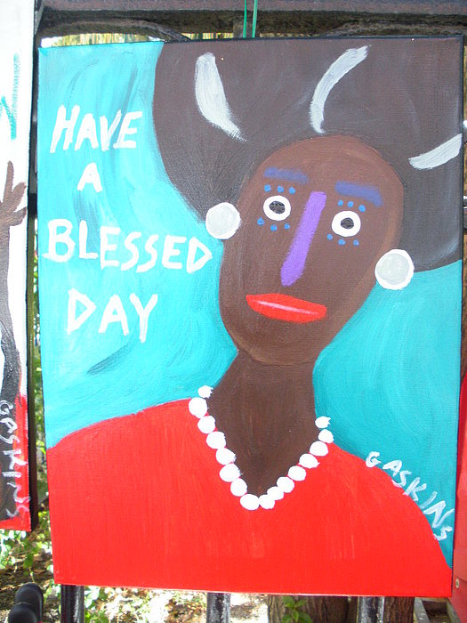 Have A Blessed Day Painting by Terry Gaskins