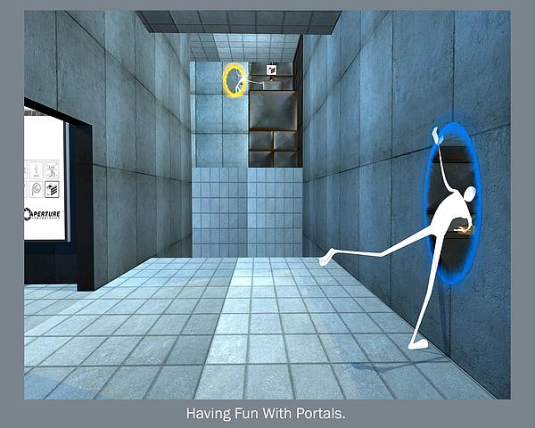 Portal Digital Art - Having Fun With Portals. by David Mc Mahon