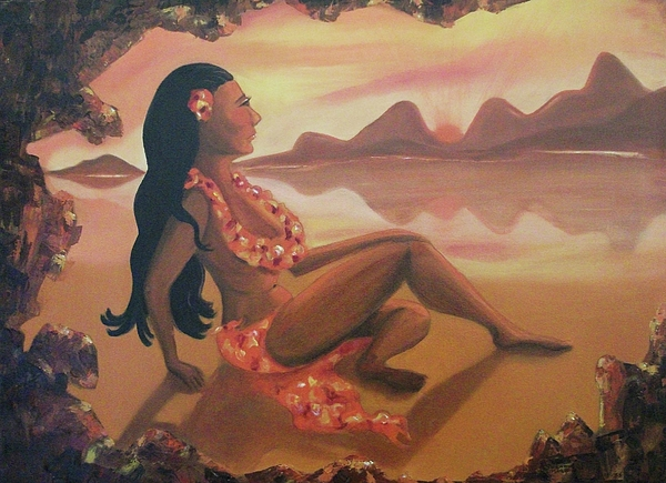 Hawaii Painting - Hawaiian Girl by Suzanne  Marie Leclair