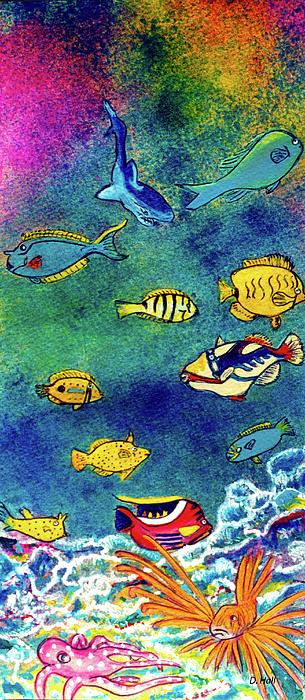 Hawaiian Reef Fish Painting - Hawaiian Reef  Fish #223 by Donald k Hall