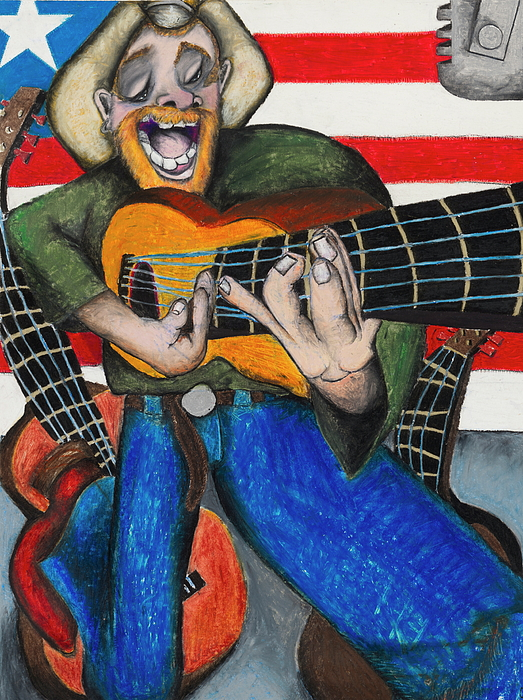 Texas Painting - Hawaiian-texas-tunes by Billy Knows