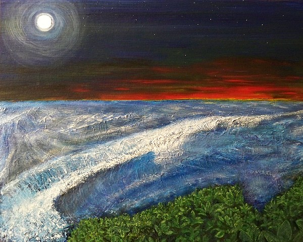 Beaches Painting - Hawiian View by Michael Cuozzo