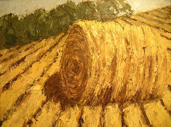 Art Sale Painting - Haybale Hill by Jaylynn Johnson