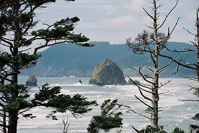 Landscape Photograph - Haystack Rock by Gene Mace
