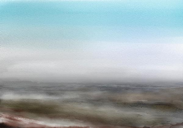 Winter Digital Art - Hazy Winter Landscape by Wolfgang Schweizer