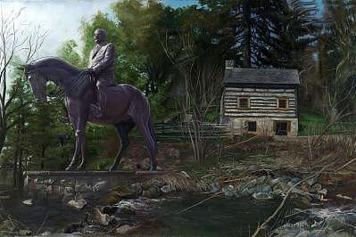 Landscape Painting - H.c. Trexler by Craig Werkheiser