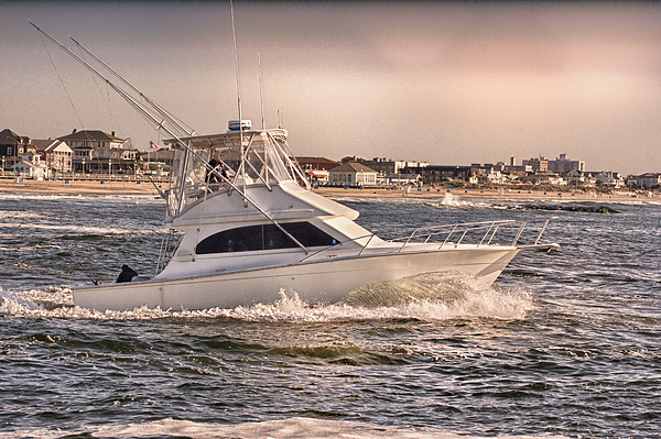 Hdr Photograph - Hdr Fishing Boat Ocean Beach Beachtown Boadwalk Scenic Photography Photos Pictures Boating Sea Pics by Pictures HDR