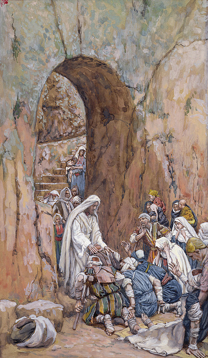 Did Painting - He Did No Miracles Save That He Healed Them by Tissot