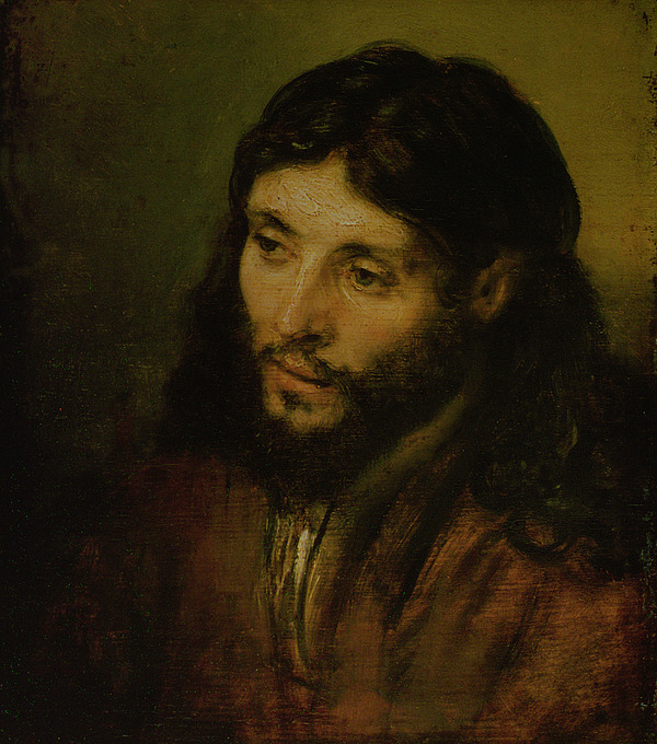 Painting - Head Of Christ by Rembrandt