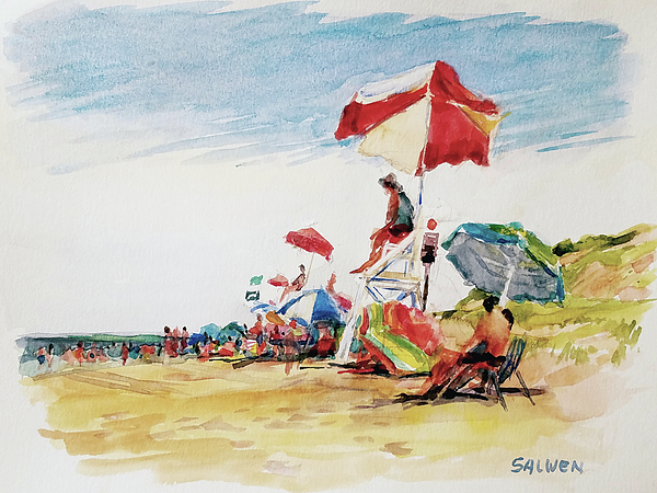 Landscape Painting - Head  Of The Meadow Beach, Afternoon by Peter Salwen
