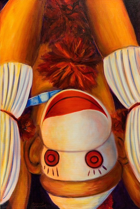 Children Painting - Head-over-heels by Shannon Grissom