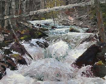 Landscape Painting - Headwaters by Joshua Been