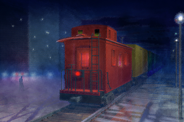 Alone Digital Art - Hear That Lonesome Whistle by Carol and Mike Werner