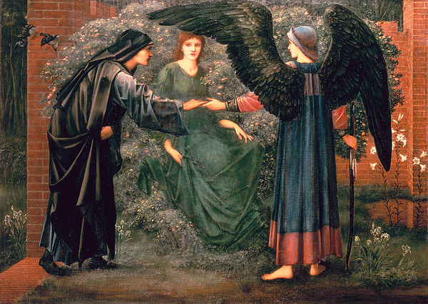 Heart Painting - Heart Of The Rose by Sir Edward Burne-Jones