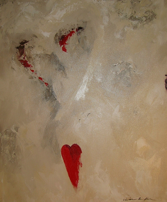 Abstract Painting - Hearts Eternal by Vivian Mora