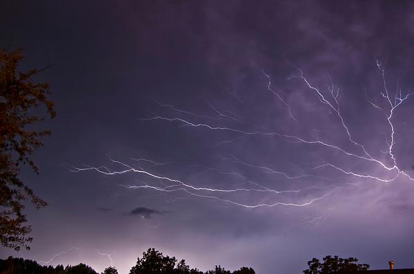 Lightning Photograph - Heat Lightning by Amber Flowers