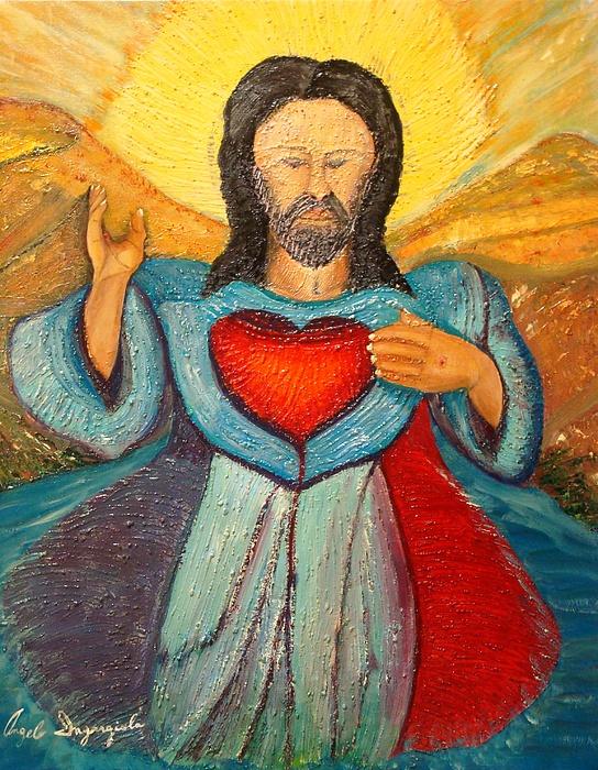 Jesus Painting - Heaven On Earth by Angelo Ingargiola