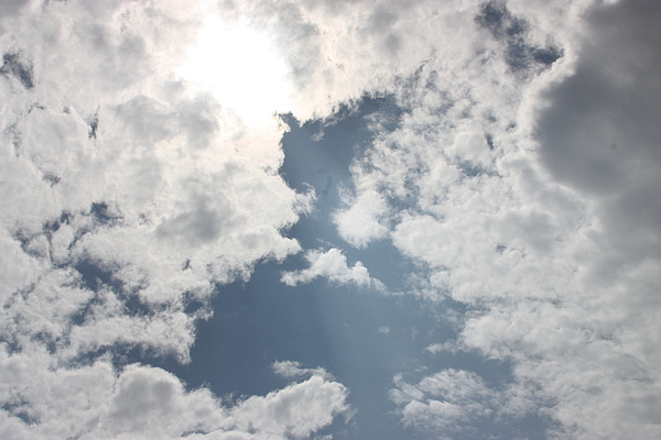 Clouds Photograph - Heavenly Beam by Christina Martinez