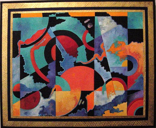 Abstract Painting - Heavens Doorway by Bernard Goodman