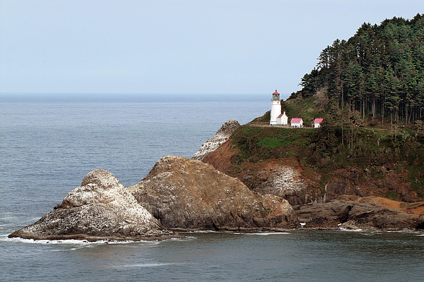 Florence Photograph - Heceta Head Lighthouse - Oregons Scenic Pacific Coast Viewpoint by Christine Till