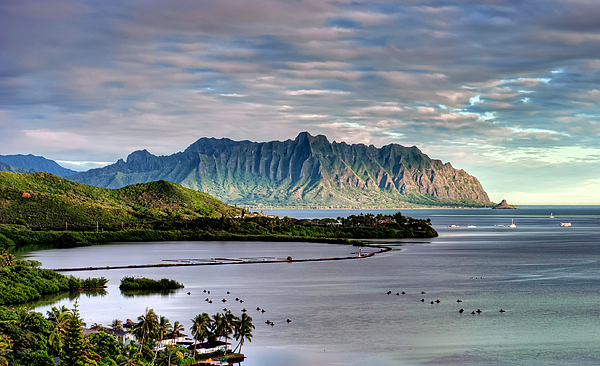 Hawaii Photograph - Heeia Fish Pond And Kualoa by Dan McManus