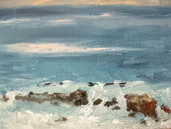 Seascape Painting - Heistler Park Overview by Bryan Alexander