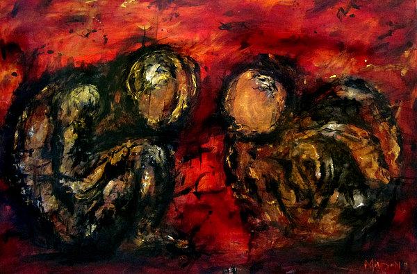 Da Vinci Painting - Helio Twin by Dennis Matson