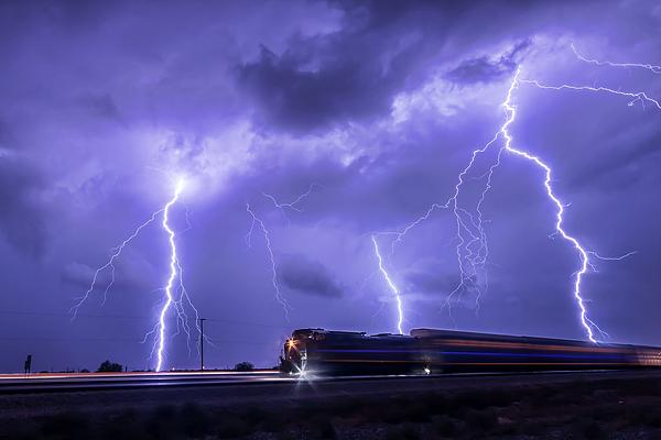 Weather Photograph - Hell Train by Ryan Seek
