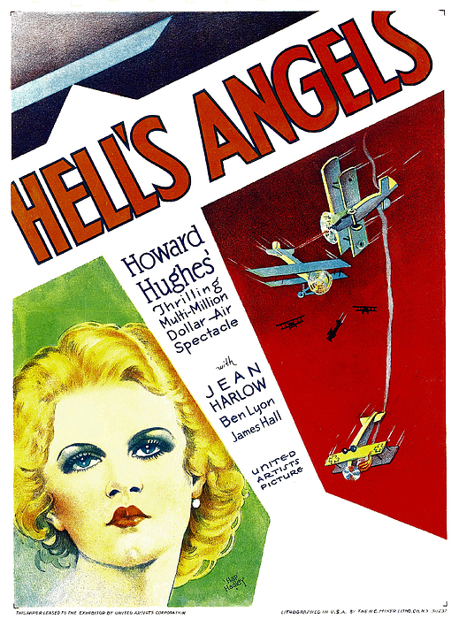 1930s Movies Photograph - Hells Angels, Jean Harlow On Window by Everett
