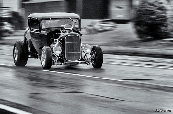 1932 Photograph - Hemi Powered 1932 Ford 5 Window Coupe by Ken Morris