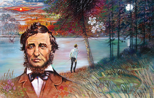 Henry David Thoreau Painting - Henry David Thoreau by John Lautermilch