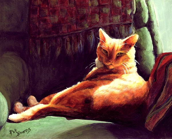 Cat Painting - Henry In Sunshine by Pat Burns