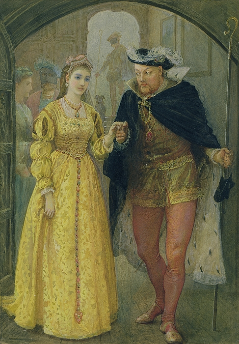 Ermine Painting - Henry Viii And Anne Boleyn  by Arthur Hopkins