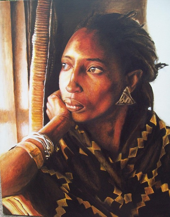 Portrait Painting - Her Vision by David Williams