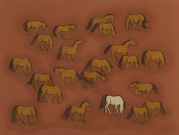 Horse Herd Painting - Herd 1 by Sophy White