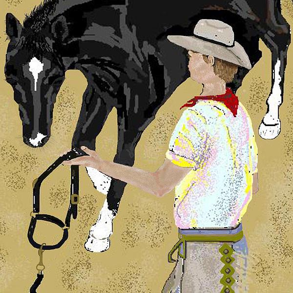 Horse Digital Art - Here Boy by Carole Boyd