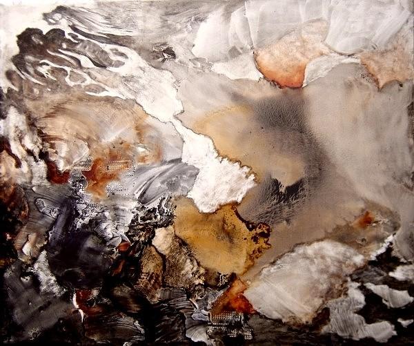 Abstract Painting - Heridas Del Alma by Sara  Diciero