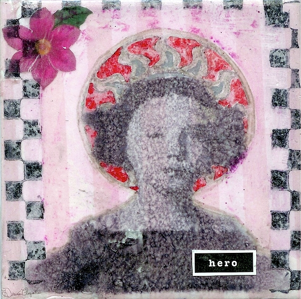Pink Mixed Media - Hero by Desiree Paquette