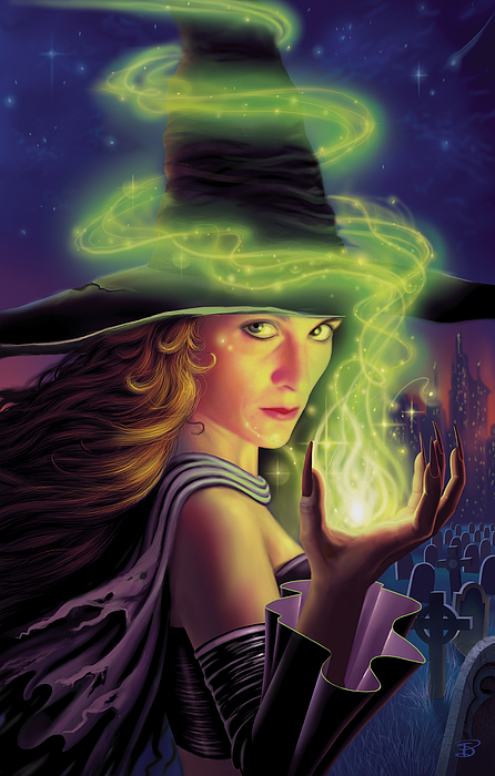 Witch Painting - Hex Of The Wicked Witch by Philip Straub