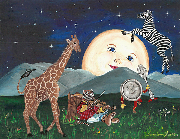 Hey Diddle Diddle Painting By Sundara Fawn